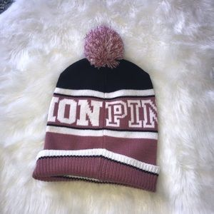 Pink nation beanie nwot